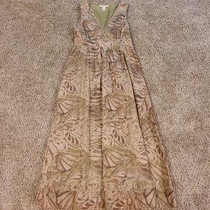 Sundance leaf print dress